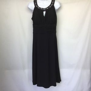 Dressbarn Dress Black Sleeveless Empire Waist Sz 8